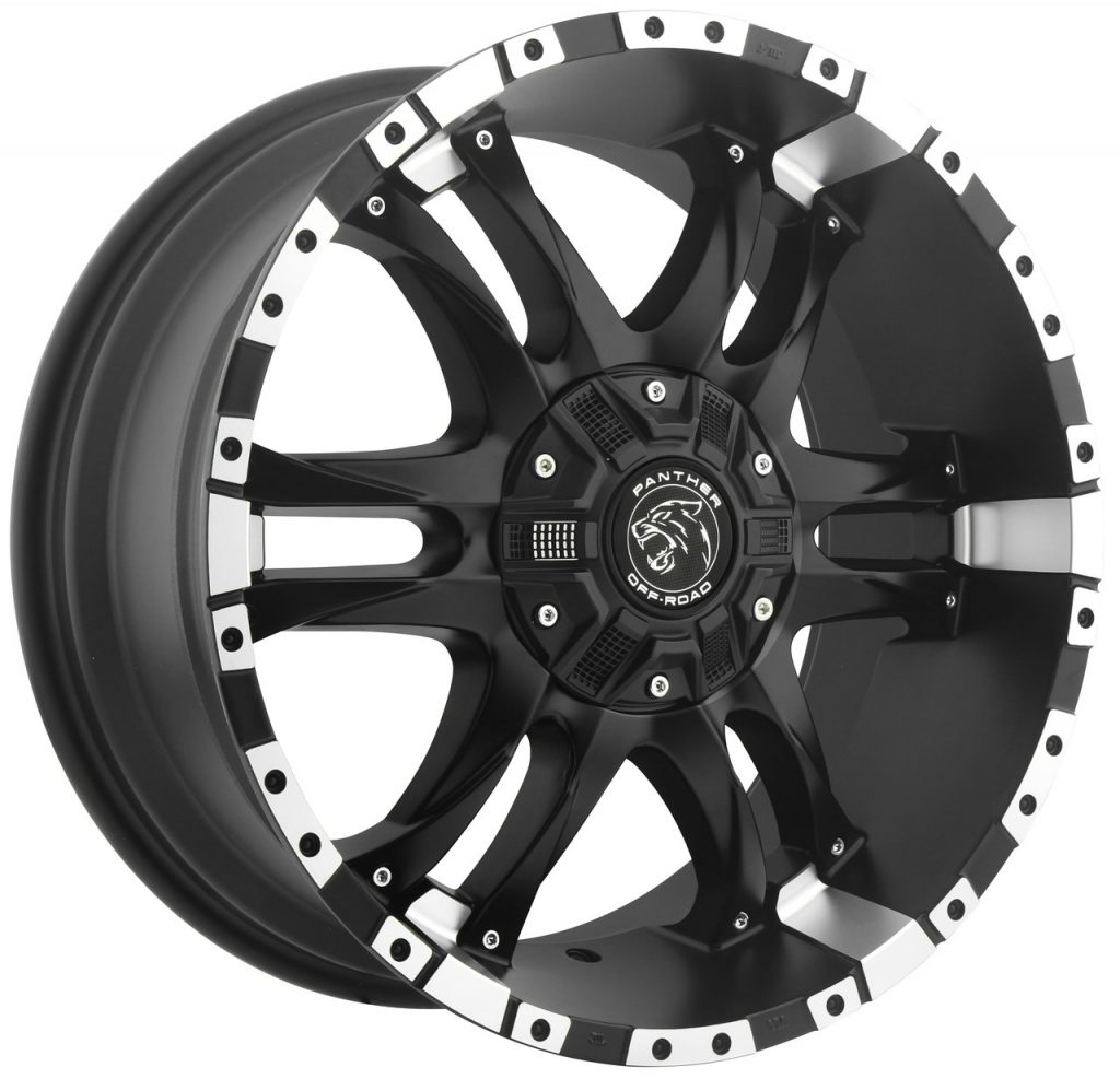 PANTHER (OFF ROAD) 810 (FLAT BLACK FACE / MACHINED LIP)